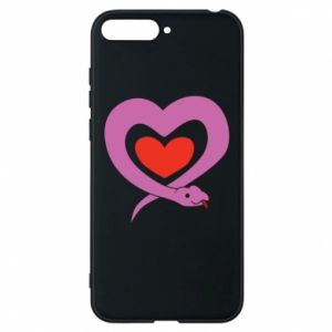 Phone case for Huawei Y6 2018 Cute snake heart