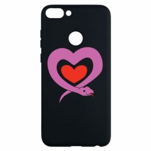 Phone case for Huawei P Smart Cute snake heart