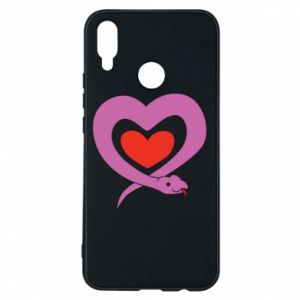Phone case for Huawei P Smart Plus Cute snake heart