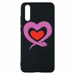 Phone case for Huawei P20 Cute snake heart