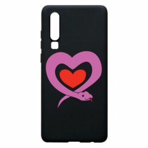 Phone case for Huawei P30 Cute snake heart