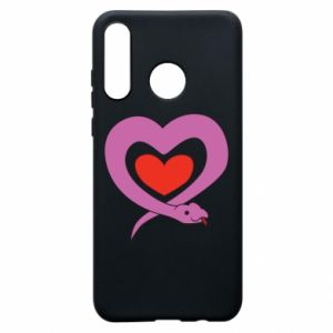 Phone case for Huawei P30 Lite Cute snake heart