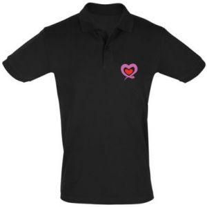 Men's Polo shirt Cute snake heart - PrintSalon