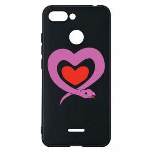 Etui na Xiaomi Redmi 6 Cute snake heart