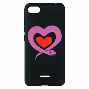 Etui na Xiaomi Redmi 6A Cute snake heart