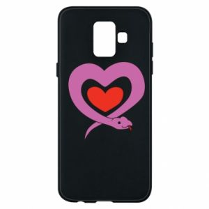 Phone case for Samsung A6 2018 Cute snake heart