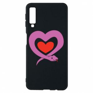 Phone case for Samsung A7 2018 Cute snake heart