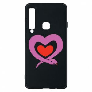 Phone case for Samsung A9 2018 Cute snake heart