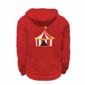 Kid's zipped hoodie % print% The circus
