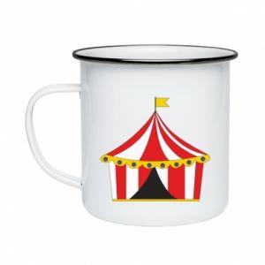 Enameled mug The circus