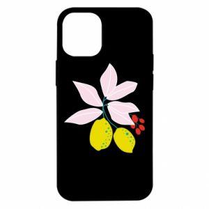 Etui na iPhone 12 Mini Cytryny na gałęziach