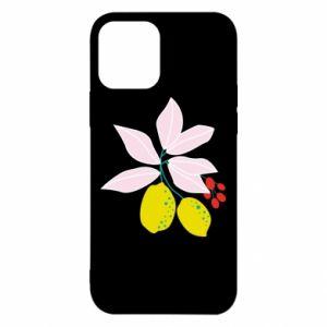 Etui na iPhone 12/12 Pro Cytryny na gałęziach