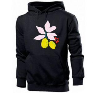 Men's hoodie Lemons on the branches