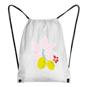 Plecak-worek Cytryny na gałęziach