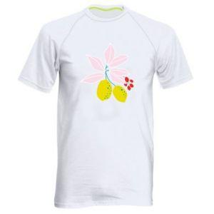 Koszulka sportowa męska Cytryny na gałęziach
