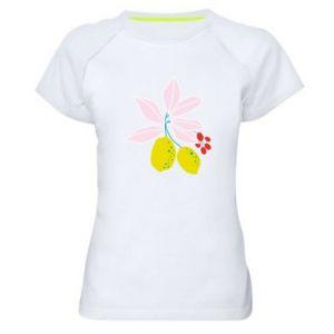 Koszulka sportowa damska Cytryny na gałęziach