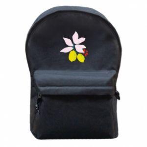 Plecak z przednią kieszenią Cytryny na gałęziach