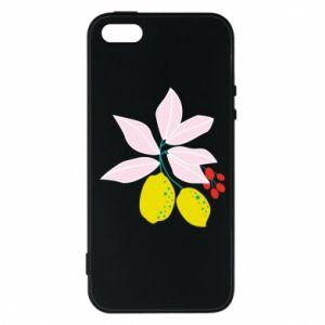 Etui na iPhone 5/5S/SE Cytryny na gałęziach