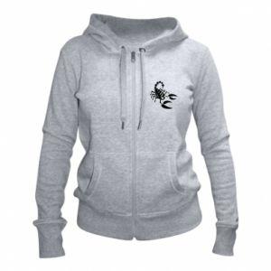 Women's zip up hoodies Black scorpion