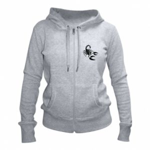 Damska bluza na zamek Czarny skorpion - PrintSalon