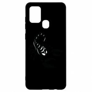 Etui na Samsung A21s Czarny skorpion