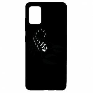 Etui na Samsung A51 Czarny skorpion