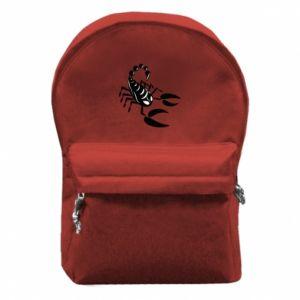 Plecak z przednią kieszenią Czarny skorpion