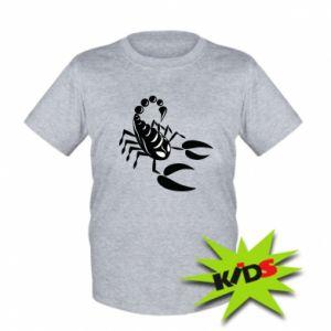 Dziecięcy T-shirt Czarny skorpion - PrintSalon