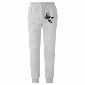 Męskie spodnie lekkie Czarny skorpion