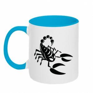 Kubek dwukolorowy Czarny skorpion - PrintSalon