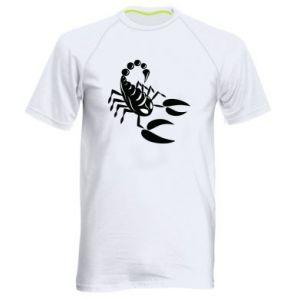 Męska koszulka sportowa Czarny skorpion - PrintSalon