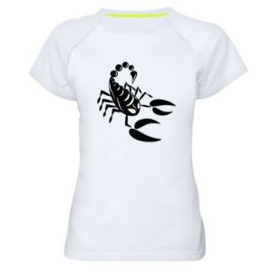 Women's sports t-shirt Black scorpion