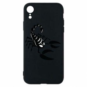 Etui na iPhone XR Czarny skorpion