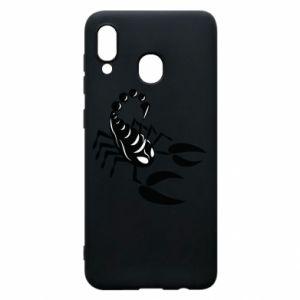 Etui na Samsung A20 Czarny skorpion