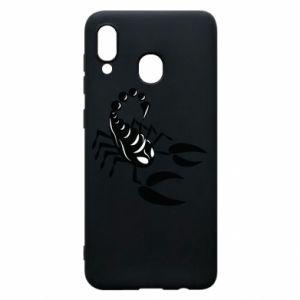 Etui na Samsung A30 Czarny skorpion - PrintSalon