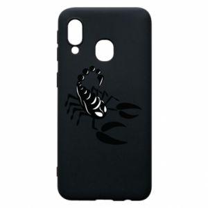 Etui na Samsung A40 Czarny skorpion