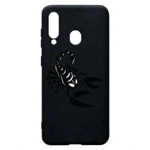 Etui na Samsung A60 Czarny skorpion