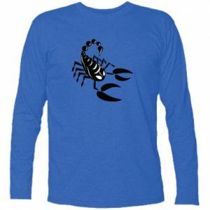 Koszulka z długim rękawem Czarny skorpion - PrintSalon