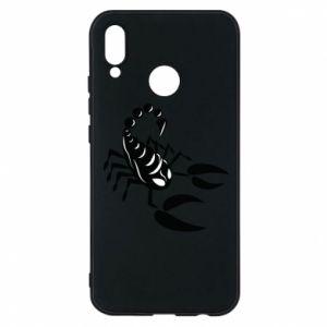 Etui na Huawei P20 Lite Czarny skorpion