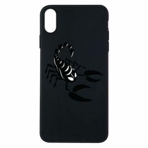 Etui na iPhone Xs Max Czarny skorpion