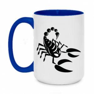Kubek dwukolorowy 450ml Czarny skorpion
