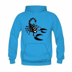 Bluza z kapturem dziecięca Czarny skorpion