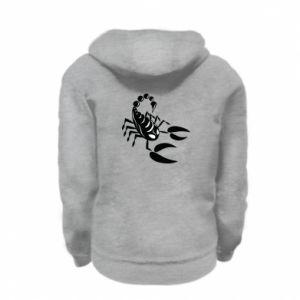 Bluza na zamek dziecięca Czarny skorpion