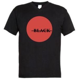 Męska koszulka V-neck Вlack