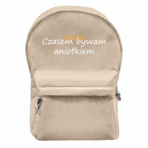 Plecak z przednią kieszenią Czasem bywam aniołkiem