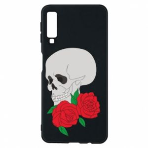 Samsung A7 2018 Case Skull in flowers