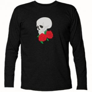 Long Sleeve T-shirt Skull in flowers