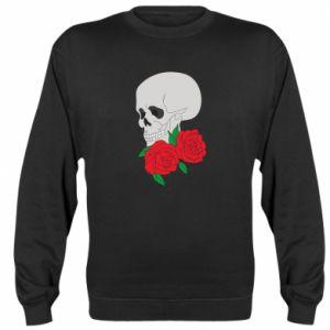 Bluza (raglan) Czaszka w kwiatach