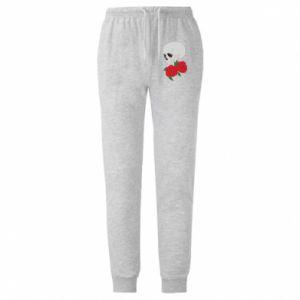 Męskie spodnie lekkie Czaszka w kwiatach