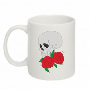 Mug 330ml Skull in flowers